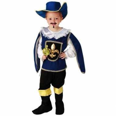 Blauw musketiers geschiedenis carnavalskleding jongens helmond