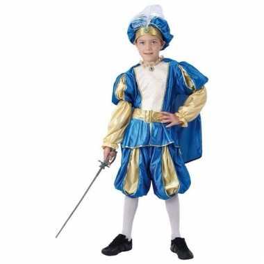 Blauwe oosterse prins carnavalskleding jongens helmond