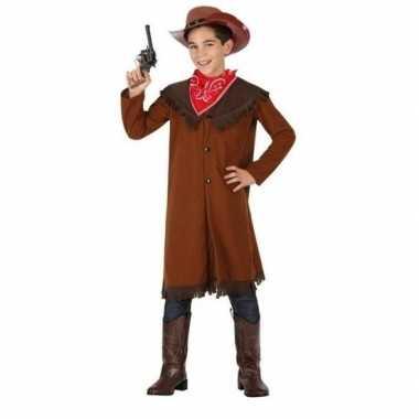 Carnaval/feest bruine cowboy john verkleedcarnavalskleding jongens h