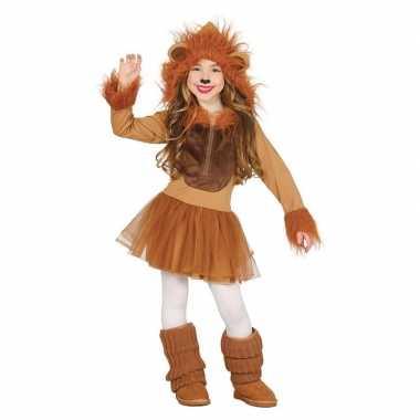 Carnaval/feest leeuw verkleed carnavalskleding meisjes helmond