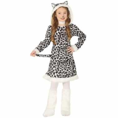 Carnaval/feest luipaard verkleed carnavalskleding meisjes helmond