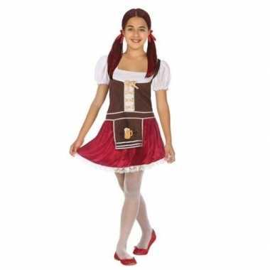 Carnaval/feest oktoberfest verkleedcarnavalskleding bruin/rood meisj