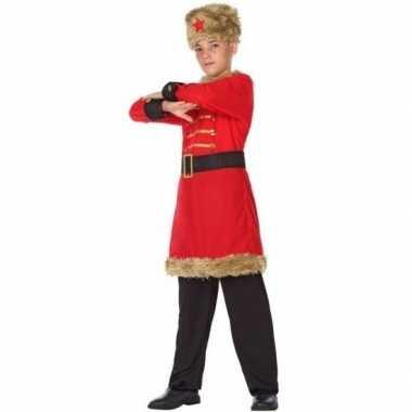 Carnaval/feest russische kozak verkleedcarnavalskleding jongens helm