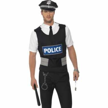 Carnavals carnavalskleding politie verkleed setje helmond