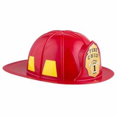 Carnavalskleding adult size brandweer helm helmond