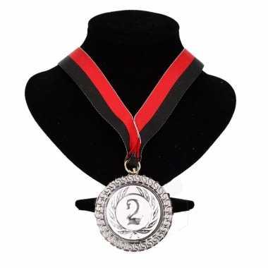 Carnavalskleding ajax kleuren medaille nr halslint rood zwart helmond 10091763