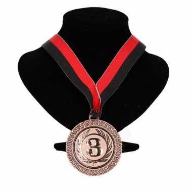 Carnavalskleding ajax kleuren medaille nr halslint rood zwart helmond 10091764
