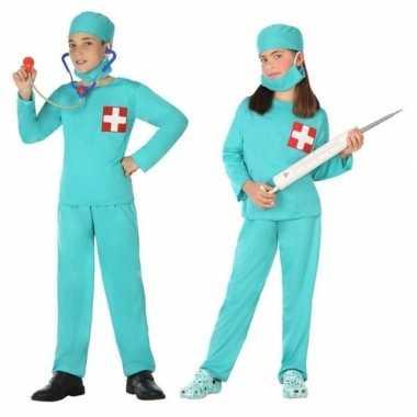 Carnavalskleding arts/chirurg verkleed set meisjes jongens helmond