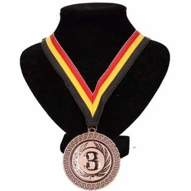 Carnavalskleding belgie medaille nr halslint geel rood zwart helmond 10091781