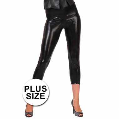 Carnavalskleding big size glimmende zwarte legging helmond