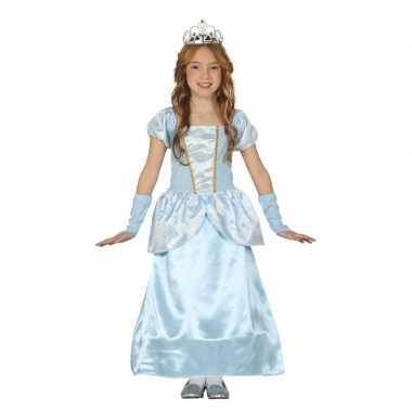 Carnavalskleding blauw fee jurkje meisjes helmond