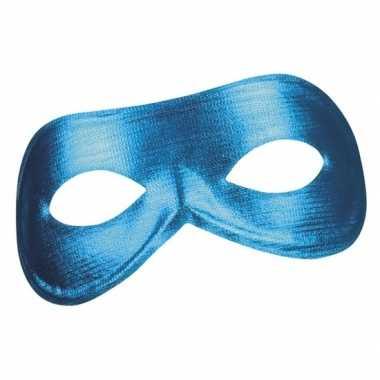 Carnavalskleding blauw metallic oog masker dames helmond