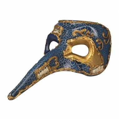Carnavalskleding blauw venetiaans masker heren helmond