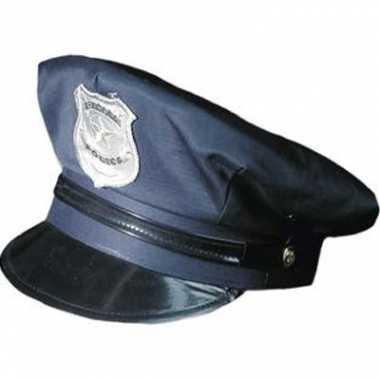 Carnavalskleding  Blauwe politie pet volwassenen helmond