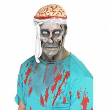 Carnavalskleding bloederige hersenen hoed helmond