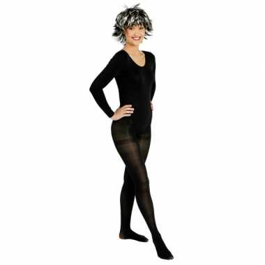 Carnavalskleding  Bodystocking zwart helmond