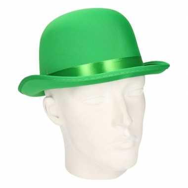 Carnavalskleding bolhoedje groen volwassenen helmond