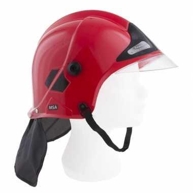 Carnavalskleding brandweerman kinderhelm rood helmond