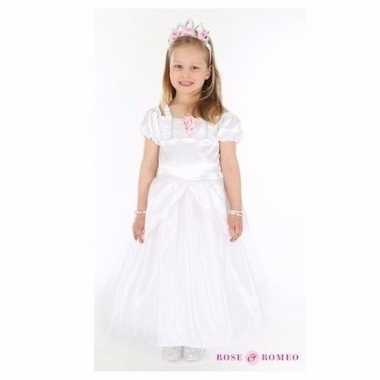 Carnavalskleding bruidsmeisjes jurkjes wit helmond
