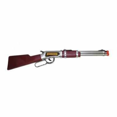 Carnavalskleding bruin western geweer helmond