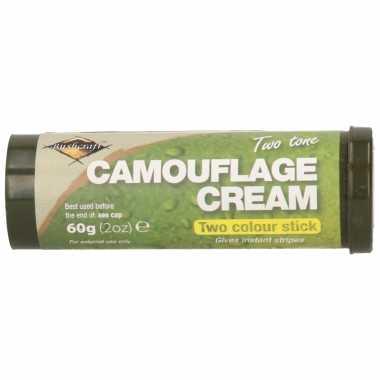 Carnavalskleding bruine/groene camouflage creme/stift gram helmond