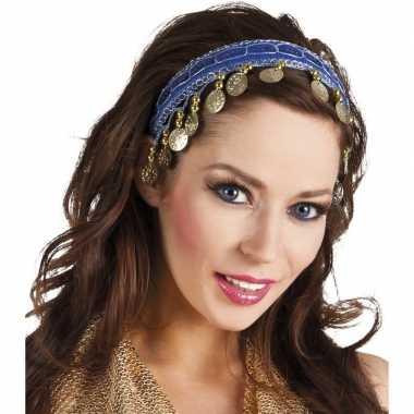 Carnavalskleding carnaval esmeralda buikdanseres hoofdband kobalt bla