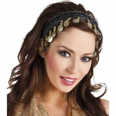 Carnavalskleding carnaval esmeralda buikdanseres hoofdband zwart dame