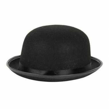 Carnavalskleding carnaval/feest bolhoed/bowler hat zwart volwassenen