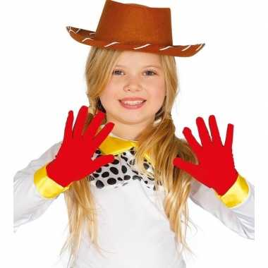 Carnavalskleding carnaval handschoenen rood kinderen helmond