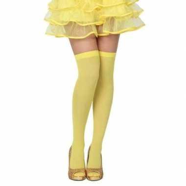 Carnavalskleding carnavalaccessoires kousen neon geel dames helmond