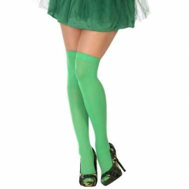 Carnavalskleding carnavalaccessoires kousen neon groen dames helmond