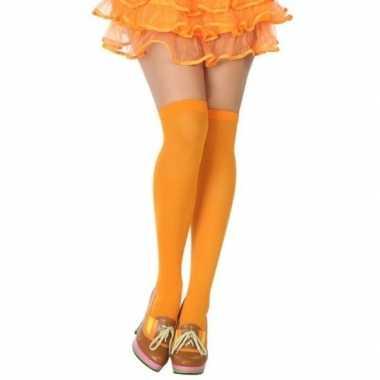 Carnavalskleding carnavalaccessoires kousen neon oranje dames helmond