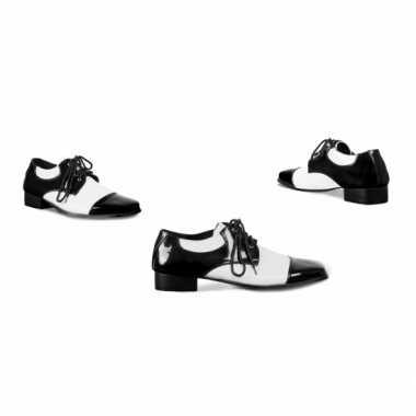 Carnavalskleding  Carnavals schoenen zwart wit helmond