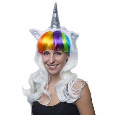 Carnavalskleding carvalaccessoire eenhoornpruik dames helmond
