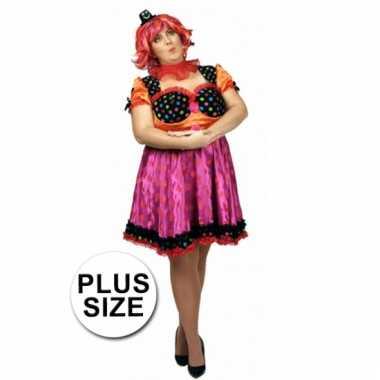 Carnavalskleding circus jurk grote maat dames helmond