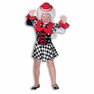 Carnavalskleding clown jurkje kinderen helmond