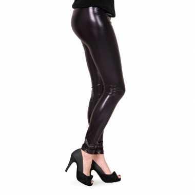 Goede Carnavalskleding Dames lak legging zwart helmond HU-57