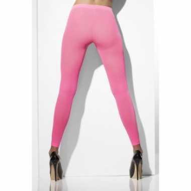 Roze Carnavalskleding Dames.Carnavalskleding Dames Legging Neon Roze Helmond Carnavalskleding