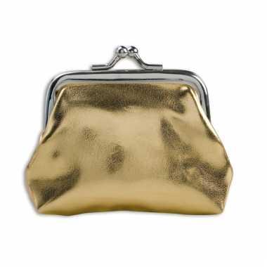 Carnavalskleding dames portemonnee goud helmond