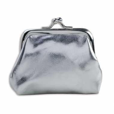 Carnavalskleding dames portemonnee zilver helmond