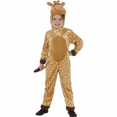 Carnavalskleding dieren onesie giraffe kids helmond
