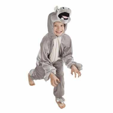 Carnavalskleding dieren onesie nijlpaard kids helmond