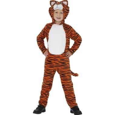 Carnavalskleding dieren onesie tijger kids helmond