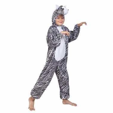 Carnavalskleding dieren onesie zebra kids helmond