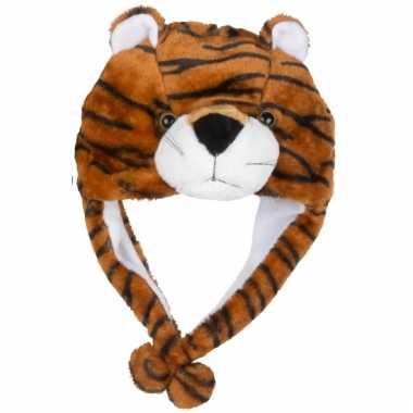 Carnavalskleding dierenmuts tijgertje kinderen helmond