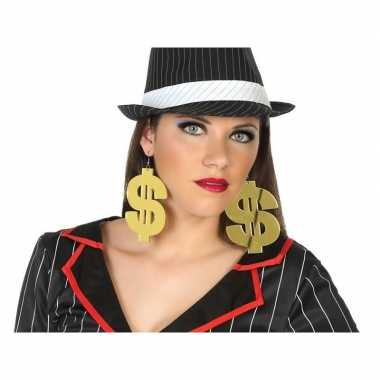 Carnavalskleding dollar verkleed oorbellen volwassenen helmond