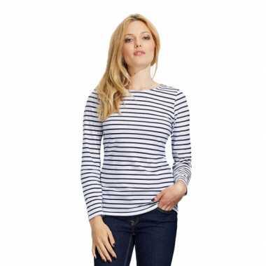 Carnavalskleding dorus t-shirt wit blauw dames helmond