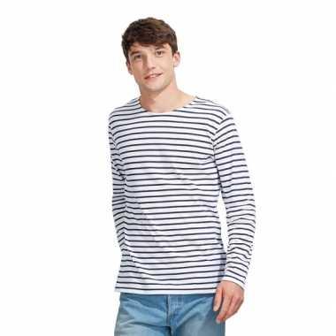 Carnavalskleding dorus t-shirt wit blauw heren helmond