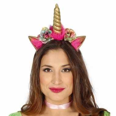 Carnavalskleding eenhoorns diadeem/tiara dames helmond
