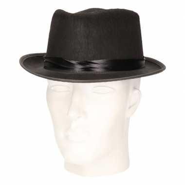 Carnavalskleding feest hoed blues zwart volwassenen helmond